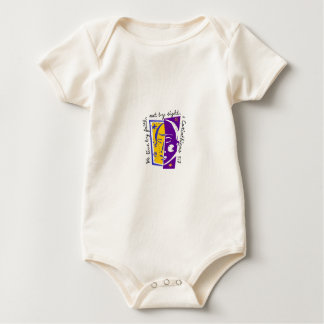 We live by faith not by sight. baby bodysuit
