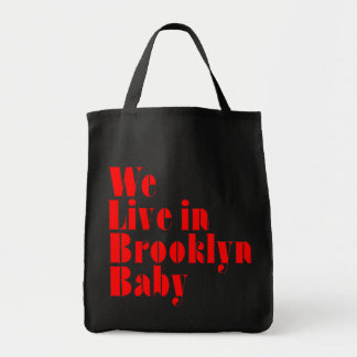 We Live in Brooklyn Baby Grocery Tote Bag