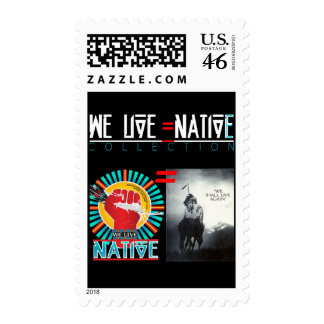We Live Native™ Collection Postage Stamp