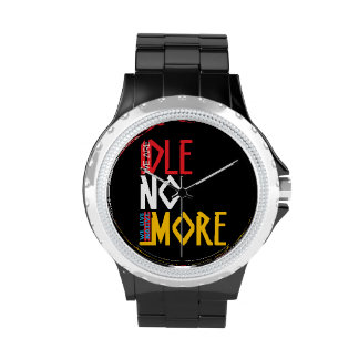 We Live Native = WE ARE IDLE NO MORE Wristwatches