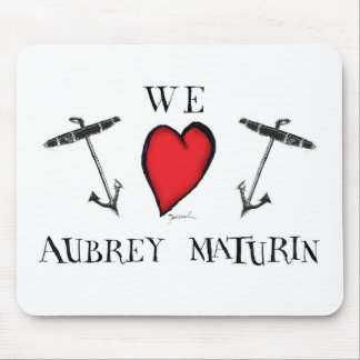 we love aubrey maturin, tony fernandes mouse pad