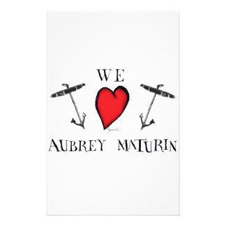we love aubrey maturin, tony fernandes stationery