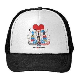「We love beer 」5色( We love beer 5 colors) トラッカー帽子