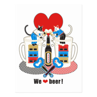 """""""We love beer """"5 colors """"We love beer """" 5 colors Postcards"""