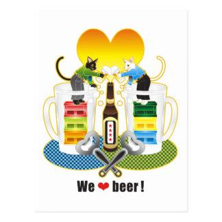 """We love beer ""Colorful ""We love beer "" Colorful Postcards"
