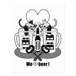 """We love beer ""Monochrome ""We love beer "" monochr Post Cards"