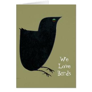 We Love Birds Card