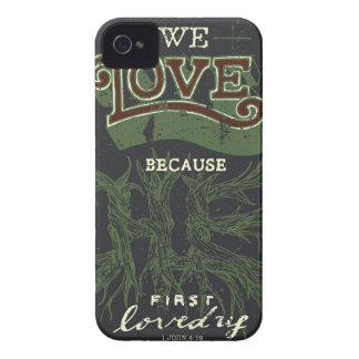 We Love (Blue) iPhone 4 Cover