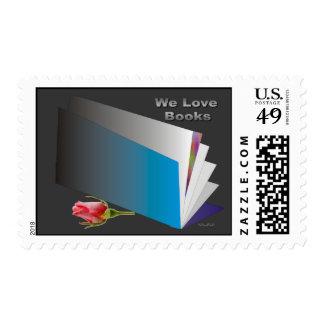 We Love Books (2) Postage Stamp