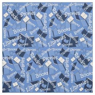 We Love Books Custom Fabric
