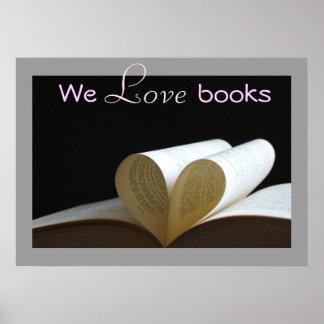 We Love Books Literacy Print