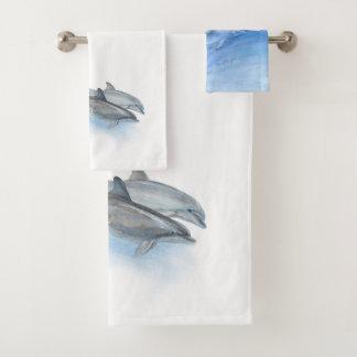 We LOVE Bottlenose Dolphins! Bath Towel Set