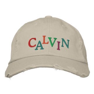 We Love CALVIN Horse Racing Cap Embroidered Hats