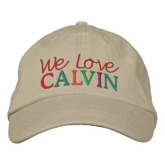 We Love CALVIN Horse Racing Cap Embroidered Baseball Cap