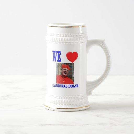 WE LOVE CARDINAL DOLAN 18 OZ BEER STEIN