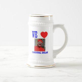 WE LOVE CARDINAL DOLAN BEER STEIN