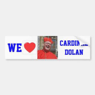 WE LOVE CARDINAL DOLAN CAR BUMPER STICKER
