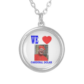 WE LOVE CARDINAL DOLAN SILVER PLATED NECKLACE