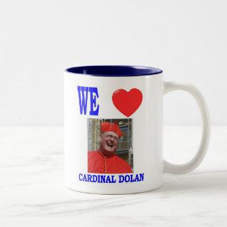 WE LOVE CARDINAL  DOLAN Two-Tone COFFEE MUG