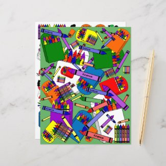 We Love Crayons Paper Scrap-booking Sheets