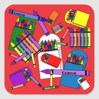 We Love Crayons Paper Stickers