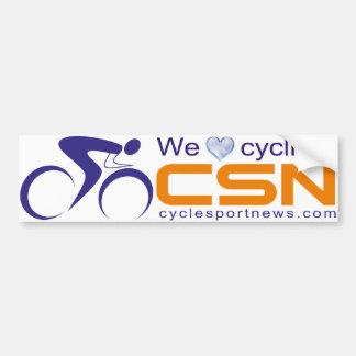 We love cycling! CSN Bumper Sticker