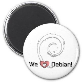 We Love Debian Magnet