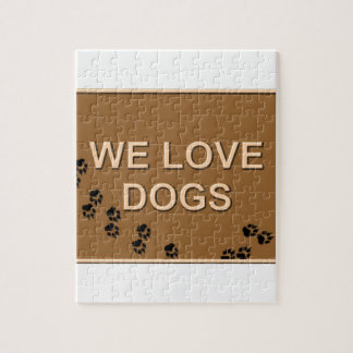 We Love Dogs Jigsaw Puzzle