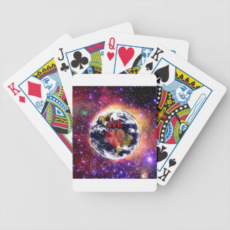 WE LOVE EARTH. BICYCLE PLAYING CARDS