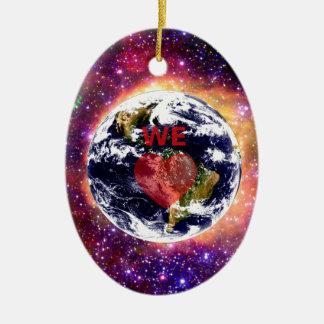WE LOVE EARTH. CERAMIC ORNAMENT