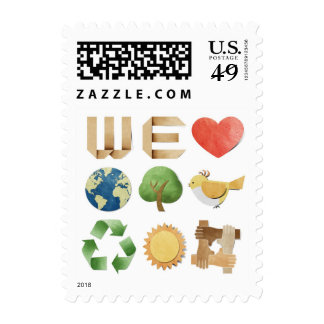 We love earth collage by healing love stamps