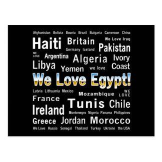 We Love Egypt, et al Postcard