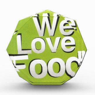 We love food acrylic award