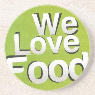We love food drink coaster