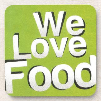 We love food coasters