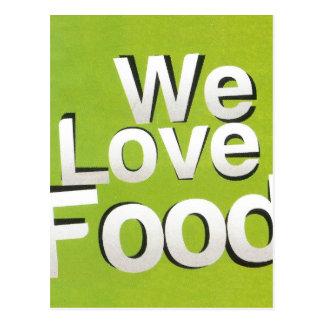 We love food postcard