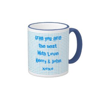 We Love Gran Ringer Coffee Mug
