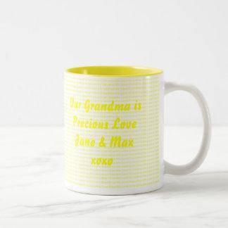 We Love Grandma Two-Tone Coffee Mug