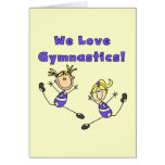 We Love Gymnastics Stationery Note Card