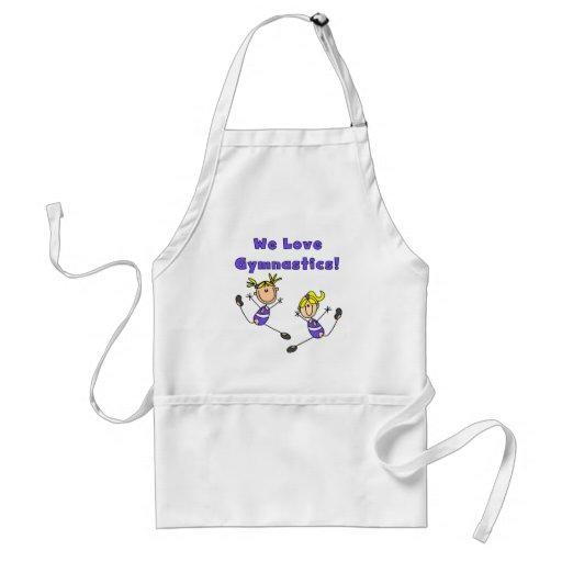 We Love Gymnastics Tshirts and Gifts Adult Apron
