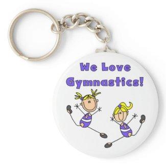 We Love Gymnastics Tshirts and Gifts keychain