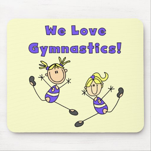 We Love Gymnastics Tshirts and Gifts Mouse Mat