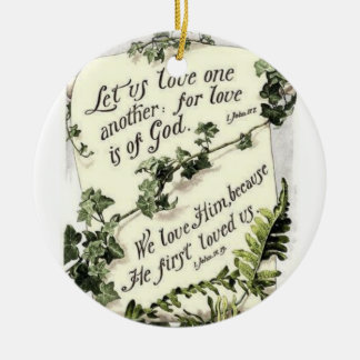 We Love Him Because He First Loved Us Double-Sided Ceramic Round Christmas Ornament