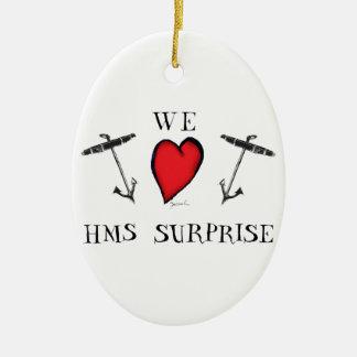 we love hms surprise, tony fernandes ceramic ornament