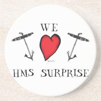 we love hms surprise, tony fernandes drink coaster