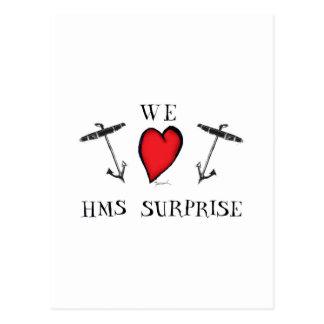 we love hms surprise, tony fernandes postcard
