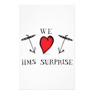 we love hms surprise, tony fernandes stationery