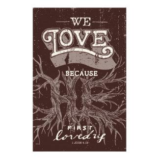 We Love (Maroon) Stationery
