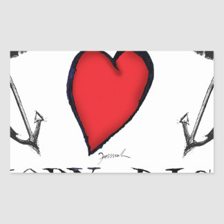 we love moby-dick rectangular sticker