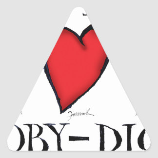 we love moby-dick triangle sticker